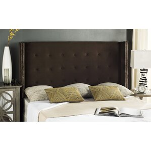 Fultz Queen Upholstered Wingback Headboard by Mercer41
