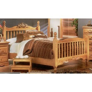 Country Heirloom Slat Headboard and Footboard by Bebe Furniture