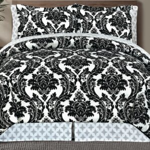 Delightful Best Place To Buy A Comforter #8: Adrielli+Damask+8+Piece+Bed+in+a+Bag.jpg
