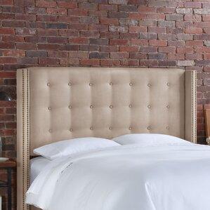 Hayworth Upholstered Wingback Headboard by House of Hampton