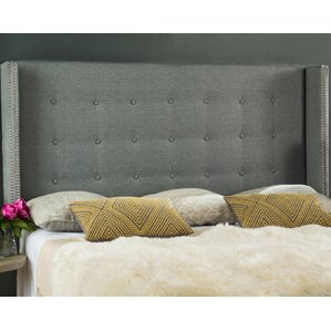Atlasburg Queen Upholstered Wingback Headboard by Three Posts