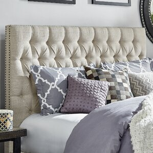 Allison King Upholstered Panel Headboard by Three Posts