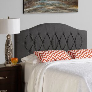 Kara Arched Upholstered Panel Headboard by House of Hampton