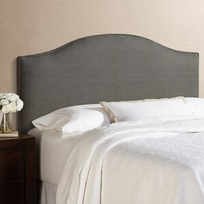 Kara 100% Linen Arched Upholstered Panel Headboard by House of Hampton