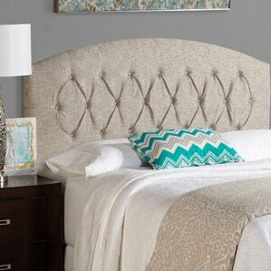 Kara Curved Upholstered Panel Headboard by House of Hampton