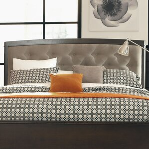 Black Cloister Upholstered Panel Headboard by Darby Home Co®
