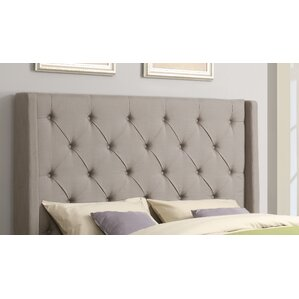 Basco Upholstered Wingback Headboard by Darby Home Co®