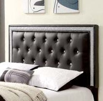 Gabrielson Upholstered Panel Headboard by House of Hampton