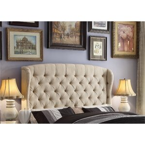 Halsey Upholstered Wingback Headboard by Darby Home Co®