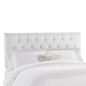 Tufted Twill Upholstered Panel Headboard by Skyline Furniture