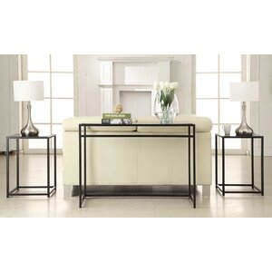 Burke Glass 3 Piece Console Table Set by Ebern Designs