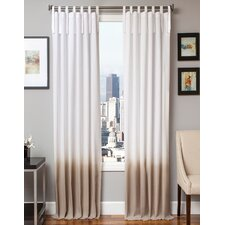 Bundy Ombre Solid Semi Sheer Tab Top Single Curtain Panel