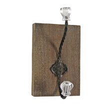 Crystal and Metal Wall Hook by Foreside Home & Garden