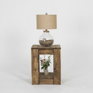 Lamoreaux Rustic Knotty End Table by Loon Peak