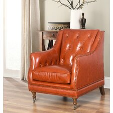 Chinery Leather Club Chair by Darby Home Co