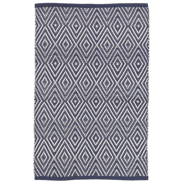 Dash And Albert Rugs Diamond Blue/White Indoor/Outdoor Area Rug U0026 Reviews |  Wayfair