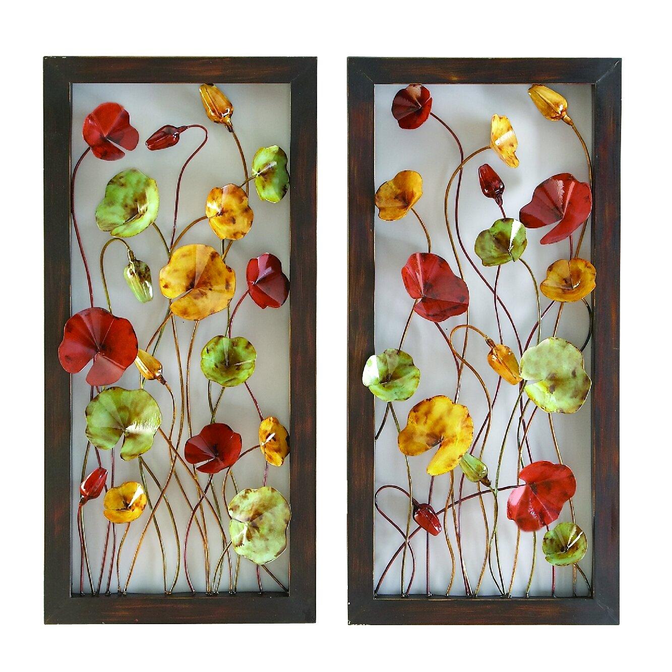 Floral Metal Wall Art flower metal wall art decor - shenra