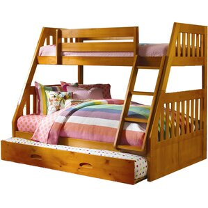 stanford twin over full bunk bed with twin slideout trundle