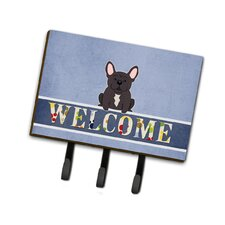 French Bulldog Brindle Welcome Leash or Key Holder by Caroline's Treasures