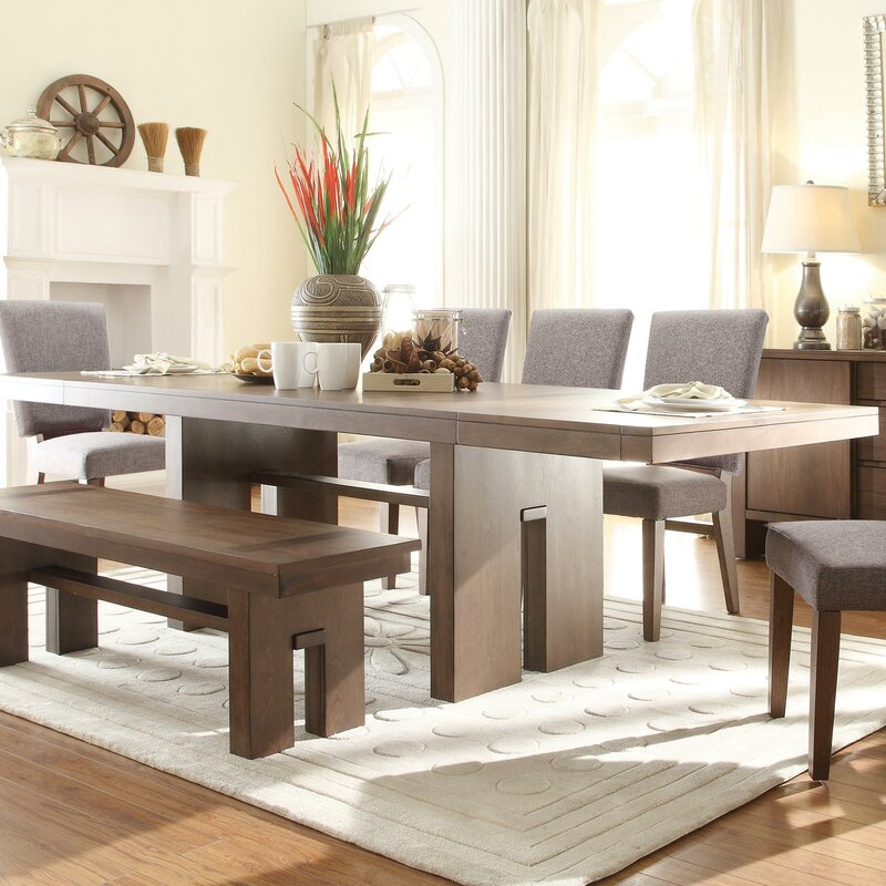 loon peak paonia 8 piece dining set & reviews | wayfair