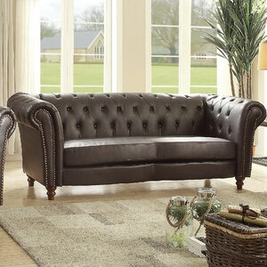 Renhold Chesterfield Rolled Arms Sofa by Willa Arlo Interiors