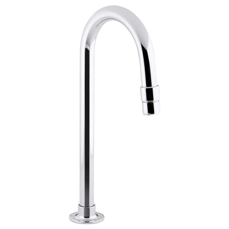 kohler bathroom sink gooseneck spout with aerator | wayfair