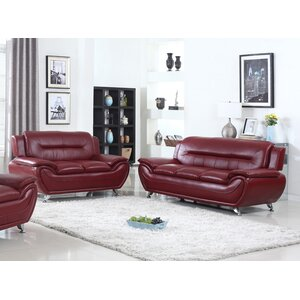 Sophie Modern Living Room Sofa and Loveseat Set by Living In Style