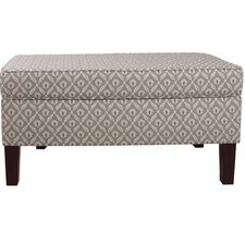 Clover Upholstered Storage Bedroom Bench by Skyline Furniture