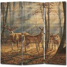 68 x 68 Woodland Splendor 3 Panel Room Divider by WGI-GALLERY