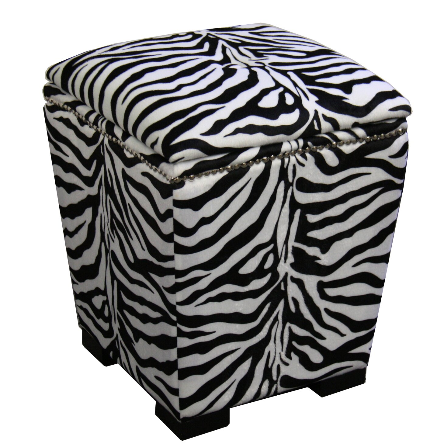 Zebra Storage Ottoman - ORE Furniture Zebra Storage Ottoman & Reviews Wayfair