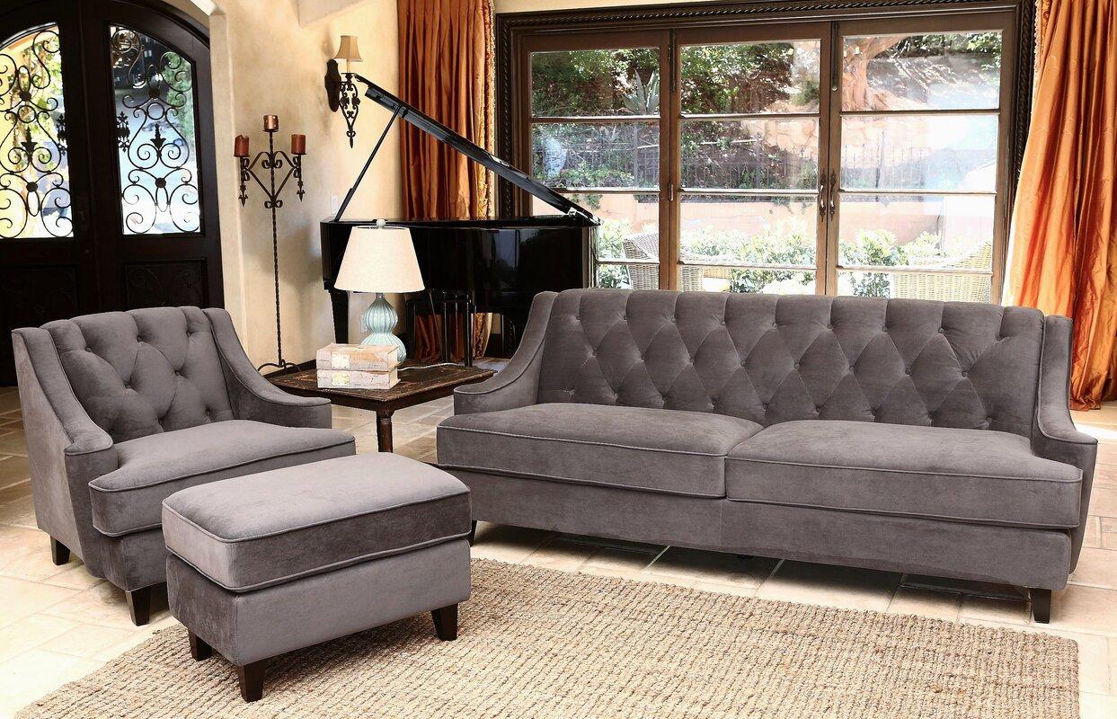 Glam Living Room Sets SKU HOHN7128 Default Name