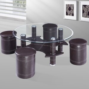 Coffee Table With Nested Stools