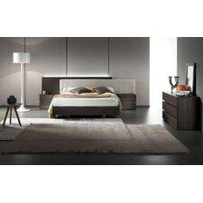 Edge Termotrattato Oak Upholstered Platform Bed by Rossetto USA