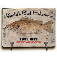 The Catch of Life Planked Wood Wall Mounted Coat Rack by Loon Peak