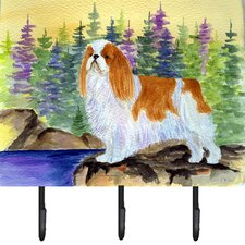English Toy Spaniel Leash Holder and Key Hook by Caroline's Treasures