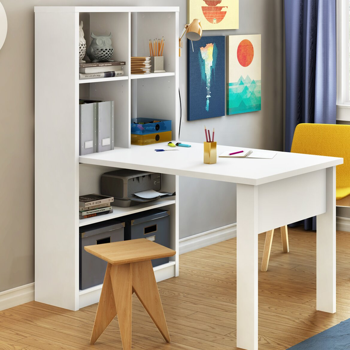South Shore Annexe Craft Storage Unit Combo Computer Desk
