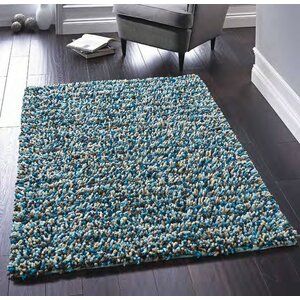 Rock Handwoven Blue Rug