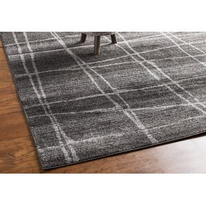 Amazing Zuri Chalkboard Checkers Gray Area Rug