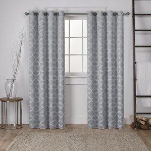 britain geometric blackout thermal curtain panels set of 2