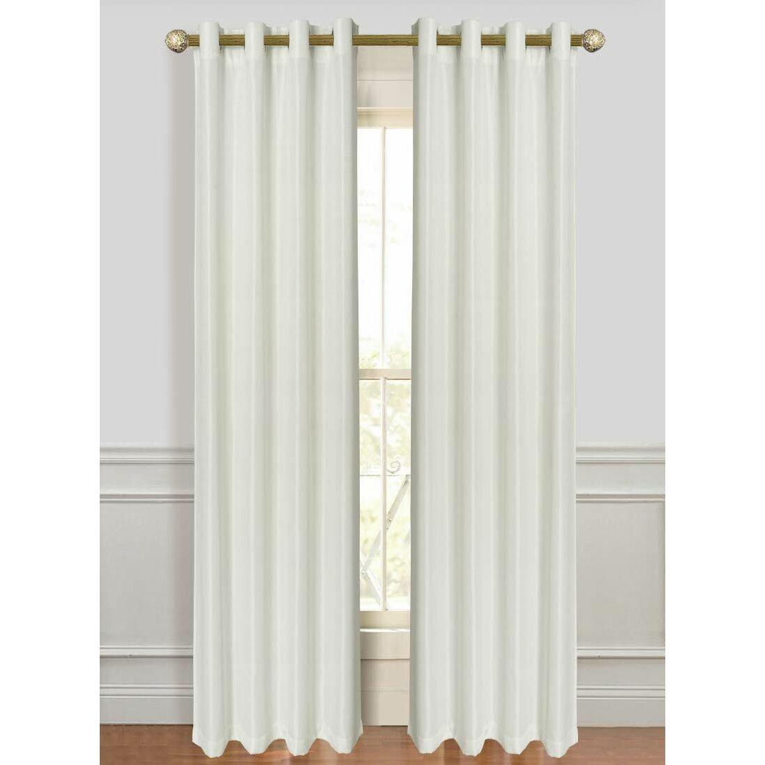 Solid Semi Sheer Grommet Curtain Panels Reviews Birch Lane