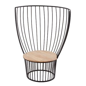 Beily Teak and Metal Side Chair by Gracie Oaks