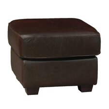 Mark Leather Ottoman by Luke Leather