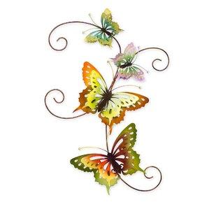 Beautiful Iridescent Metal Butterfly Wall Décor
