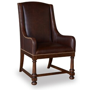Carnaghliss Host Genuine Leather Upholstered Dining Chair by Astoria Grand