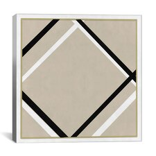 Modern Lozenge with Four Lines Graphic Art on Canvas
