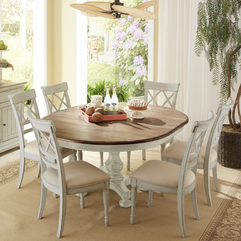 cresent furniture cottage 7 piece dining set & reviews | wayfair