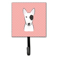 Checkerboard Bull Terrier Wall Hook by Caroline's Treasures