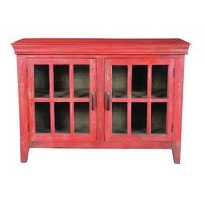 Genesee 2 Door Display Cabinet by August Grove
