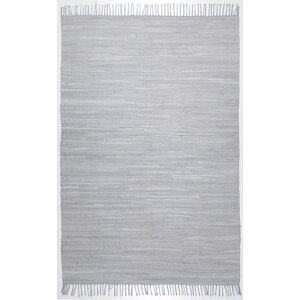 Handwoven Cotton Grey Rug