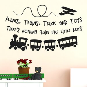Planes Trains Trucks And Toys Theres Nothing Quite Like Little Boys Wall Sticker